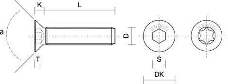 VITE A LEGNO IN OTTONE TESTA SVASATA PIANA mm2,0x 8