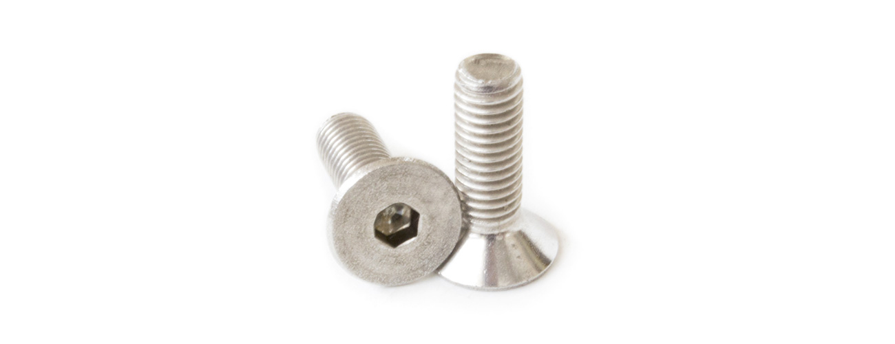 8,8 DIN 7991 M3x8 Vite a testa svasata con esagono incassato zincata